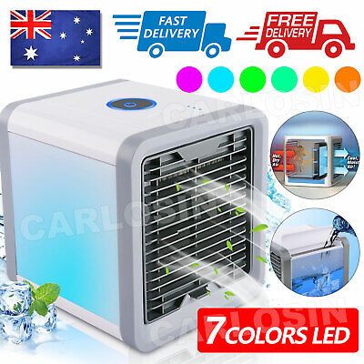 AU15.95 • Buy Portable Mini LED Air Cooler Fan Air Conditioner Cooling Humidifier Purifier AC