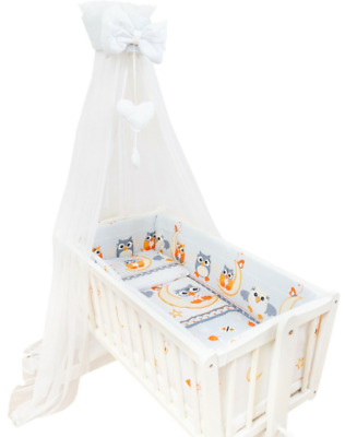 £19.99 • Buy Baby Drape Canopy Mosquito Net With Ribbon ONLY Fits Crib/Cradle Owls Moon Grey