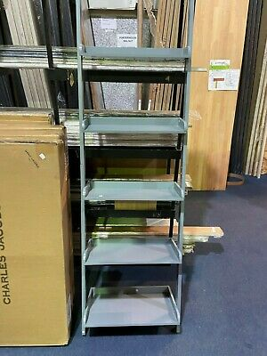 Charles Jacobs 5 Tier Ladder Shelving Unit - Grey Finish • 37.50£