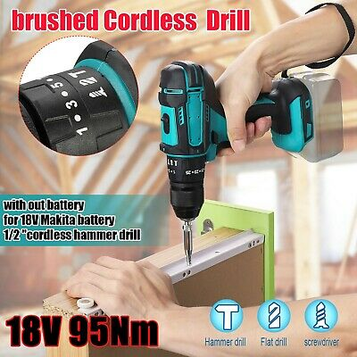 £31.34 • Buy Pro Replace For MAKITA 18V Cordless Brushed Impact DRILL Wrench 1/2 Dr Hot
