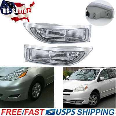 $37.89 • Buy 2X Front Fog Driving Lamp Light Left+ Right W/Bulbs For Toyota Sienna 2004 2005