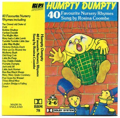 £3.99 • Buy 40 FAVOURITE NURSERY RHYMES - HUMPTY DUMPTY INCEY WINCEY SPIDER Etc NEW CASSETTE