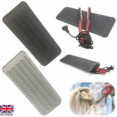 £6.49 • Buy Silicone Safety Heat Proof Pads Mat Pouch Protection For Hair Straighteners UK