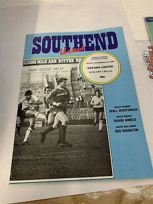 1983/84 Southend United V Oxford United League 2/12/83 • 2.99£
