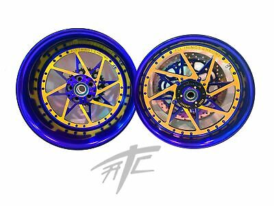 $2899.99 • Buy Gsxr Stock Size Blue & Orange Switchback Wheels 01-08 Suzuki Gsxr 1000