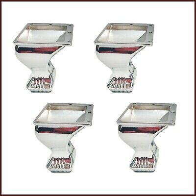 4x Metal Chrome Adjustable Feet For Sofa, Armchairs, Beds, Worktop Legs 105mm  • 32.99£
