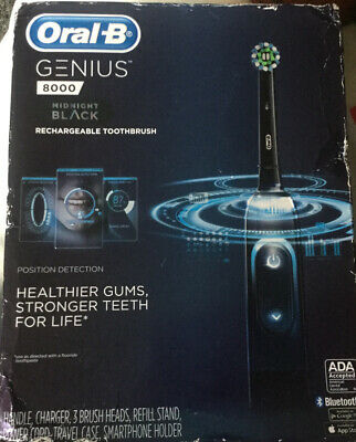 AU129.15 • Buy New Oral-B Genius 8000 Electronic Toothbrush Black Edition 069055886861