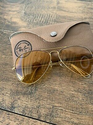 AU317.79 • Buy Vintage B&L Ray Ban-Bausch And Lomb Aviator Yellow Lenses Shooting Glasses G101