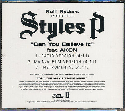 £4.96 • Buy Styles P Feat. Akon Can You Believe It RARE Promo CD Single '05