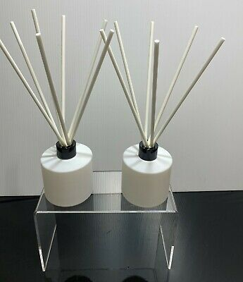 AU14.95 • Buy Pack Of 2 Round Diffuser Bottles Reed Jars And 10 White 200mm Fibre Reeds WHITE