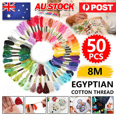 AU6.95 • Buy 50pcs/set DMC Cross Stitch Cotton Embroidery Thread Floss Sewing Skeins Craft