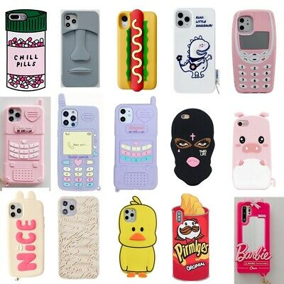 AU5.14 • Buy Case For IPhone 12 11 Pro Max X 6 7 8 Plus Cute 3D Cartoon Soft Silicone Cover