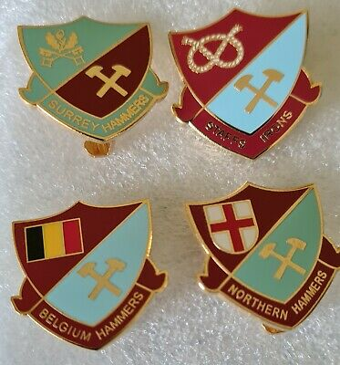 £9.99 • Buy West Ham Utd Supporters Clubs Various Hammers Badges X Four