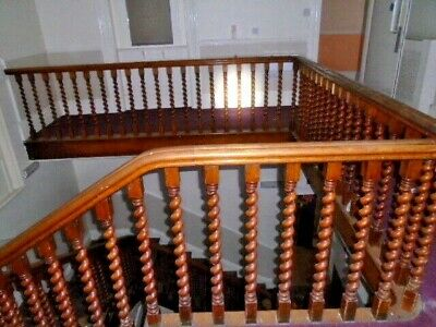 £1995 • Buy Spindles/ Stair Spindles / Oak Staircase Handrail And Barley Twist Spindles