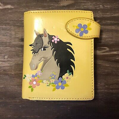 £10.62 • Buy SHAGWEAR Small Wallet - Horse & Flowers - Yellow - Same Day Shipping!