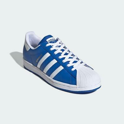 $ CDN112.25 • Buy Adidas Originals Superstar Leather Shoes Trainers Blue White 100% Authentic