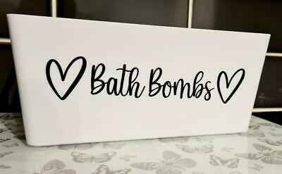 £1.99 • Buy Personalised Bath Bomb Decal/Sticker For Storage Box