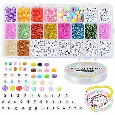 Stiesy 1 Box DIY Jewelry Making Kits For Kids DIY Arts And Crafts Colorful Glass • 30.99£