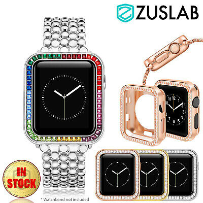 AU21.95 • Buy For Apple Watch IWatch Case SE 2 3 4 5 6 38/40/42/44 Mm FULL Alloy Zircon Cover