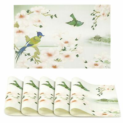 AU64.59 • Buy PVC Vinyl Washable Table Mats For Dining Table - 45x30 Cm Placemats Set Of 6