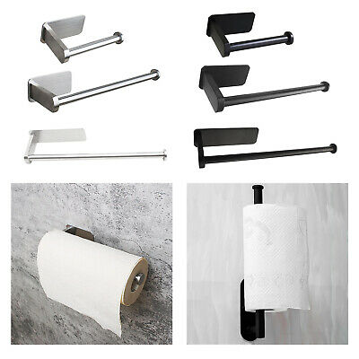 AU16.89 • Buy Adhesive Bathroom Toilet Paper Holder Kitchen Tissue Roll Stand No Drilling