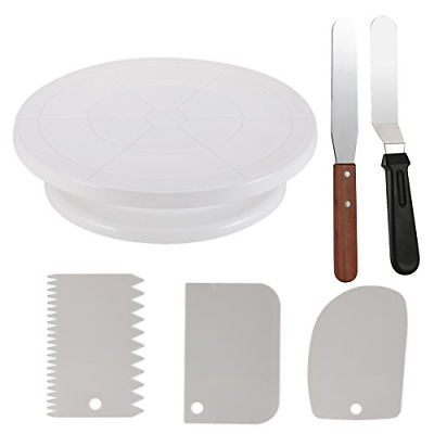 £13.05 • Buy Cake Decorating Set Kit Tools Turntable With 2 Icing Spatula & 3 Icing Smoother