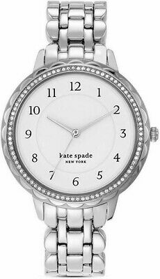 $ CDN112.73 • Buy Kate Spade NY Morningside Ladies Silver Tone Crystal Bezel 38mm Watch KSW1551