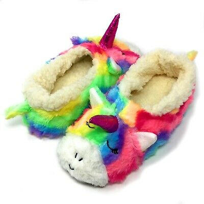 AU22.62 • Buy Women's Cozy Comfy Slippers Funny Fuzzy Fluffy Indoor Warm House Shoes Unicorn