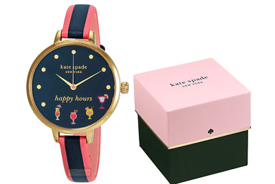 $ CDN149.13 • Buy Kate Spade New York Ladies Metro Gold-Tone Happy Hours 34mm Watch KSW1630