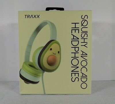 AU11.61 • Buy NEW Kids Squishy Avocado Headphones Adjustable Headband Padded Earcups