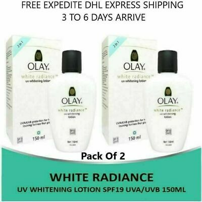 AU54.36 • Buy 2X Olay White Radiance UV Whitening Lotion SPF19 UVA/UVB 150ml For Healthy Skin