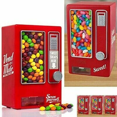 Vending Machine Retro Gumball Sweet Dispenser Bank Red Jelly Beans Xmas Gift • 24.48£