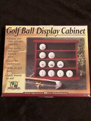 New Clubhouse Collection Golf Ball Display Cabinet • 7.24£