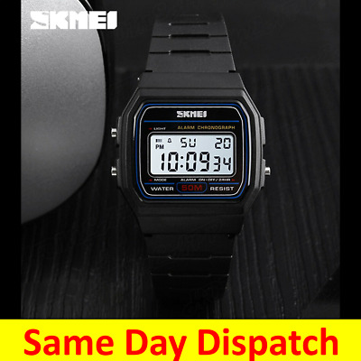 AU17.21 • Buy Skmei Digital Sports Watch Retro Waterproof Alarm Mens Military Army Casual 1412
