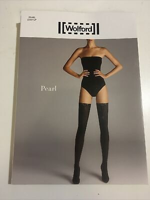 New Wolford Tights Pearl Tight Stocking Hold-up XS Black Valentine Sexy Rrp£80 • 32£