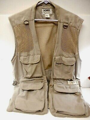 £36.57 • Buy Domke Biege Photo Vest Fishing Hunting Mens Size Large - Great Condition