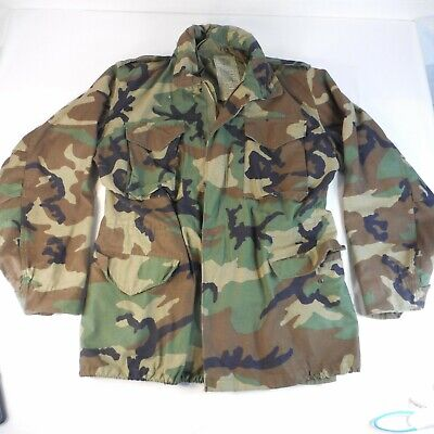 $39.99 • Buy US Army Woodland M-65 Field Jacket Coat Cold Weather Camo Med-Long Made In USA