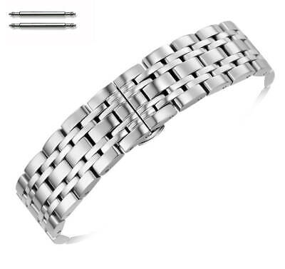 Stainless Steel Polished Metal Replacement Watch Band Strap Butterfly Clasp #55 • 12.26£