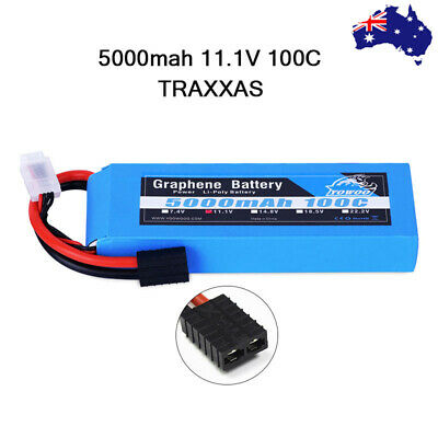 AU73.24 • Buy Yowoo 3S 5000mAh Graphene LiPo Battery 11.1V 100C TRX For Car Truck Helicopter