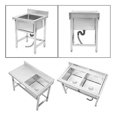 £219.95 • Buy Commercial Kitchen Sink Stainless Steel Catering Bowl Handmade Wash Cleaning UK