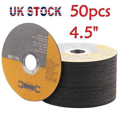 £11.79 • Buy 50x 4.5  115mm Metal Cutting Blade Disc Stainless Steel Angle Grinder Thin 1.2mm