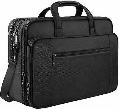 Laptop Bag, 17 Inch Business Briefcase For Men Women Large Waterproof Laptop • 25.99£