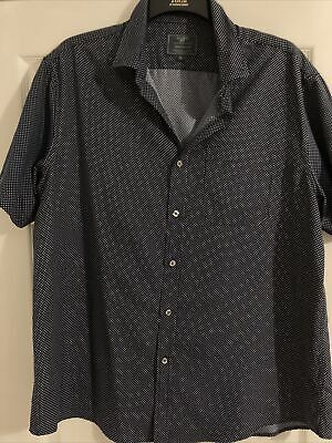 Mens Atlantic Bay Short Skeeved Blue Shirt XL • 1£