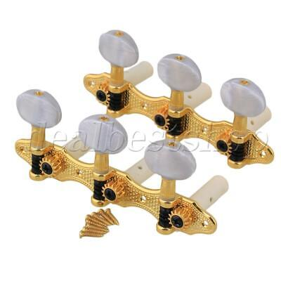 $ CDN19.71 • Buy 1R+1L Golden Classical Guitar Heavy Tuners Machine Heads Plated Pearled Pegs