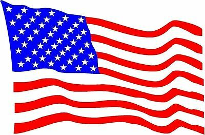 USA United States Of America National Flag Blowing Sticker Decal Vinyl Graphic • 1.99£
