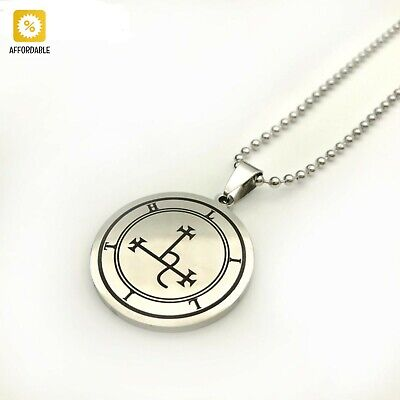 $ CDN10.16 • Buy Sigil Of Lilith Necklace Men Stainless Steel Pendant Fashion Ball Chain Jewelry