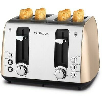 AU99 • Buy Kambrook Deluxe Collection 4 Slice Toaster - Champagne