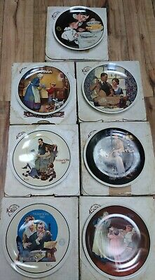 $ CDN56.93 • Buy Knowles Collector Plates Mothers Day Norman Rockwell 7 Plates Lot