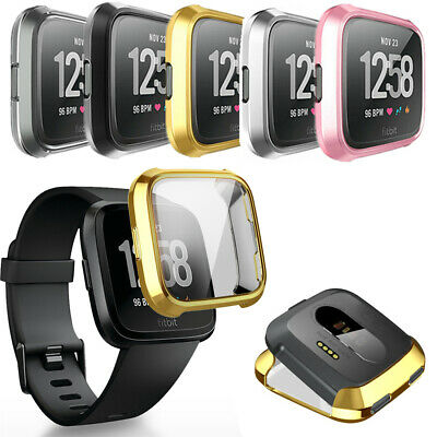 $ CDN2.92 • Buy Band Protector Full Coverage Bumper Soft Cover Watch TPU Case For Fitbit Versa