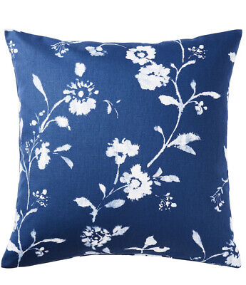 IKEA BLAGRAN Cushion Cover 50x50cm ✅ Blue White Floral NEW 🔝FAST DELIVERY • 4.50£